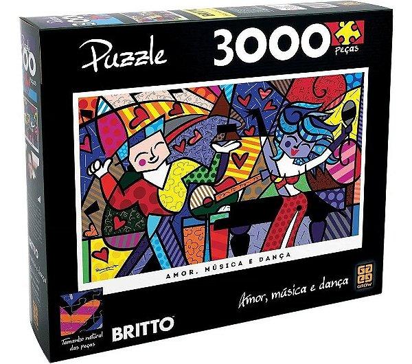Quebra Cabeça Romero Britto 3000 Peças - Grow