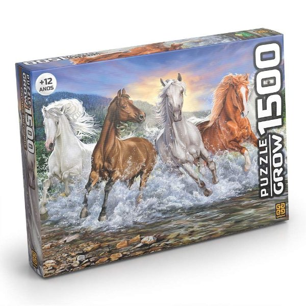 Puzzle Cavalos Selvagens 1500 peças - GROW