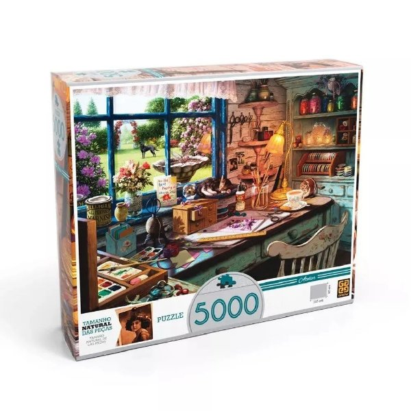 Quebra Cabeça Ateliê 5000 peças - Grow