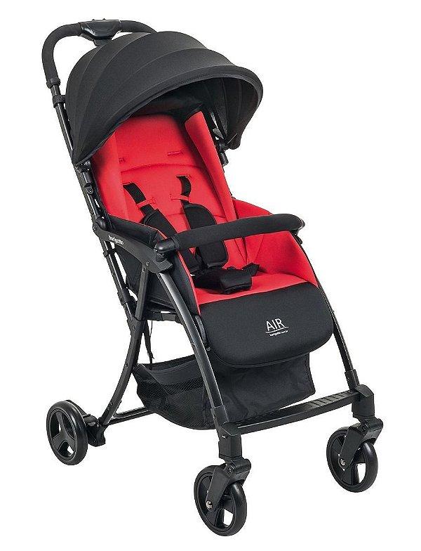 Carrinho De Bebê Air Red Black - Burigotto