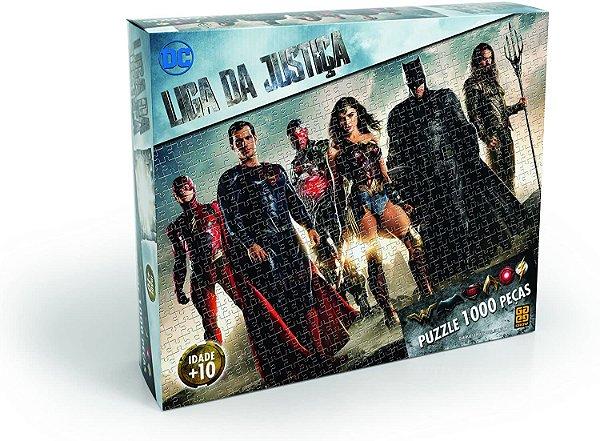 Quebra Cabeça Puzzle Liga da Justiça 1000 Peças - Grow