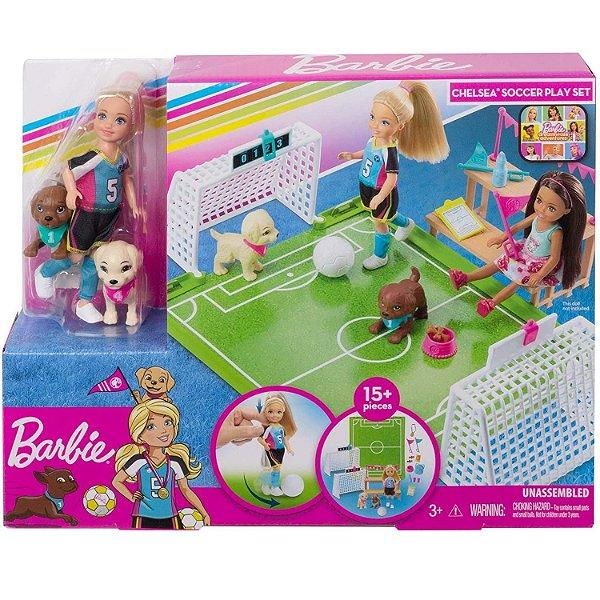 Barbie Chelsea Futebol Com Cachorrinhos - Mattel