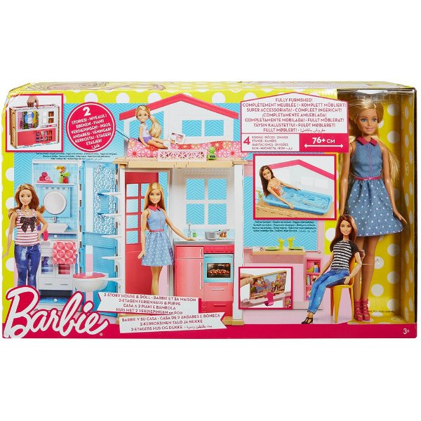 Barbie Real Barbie e Sua Casa - Mattel