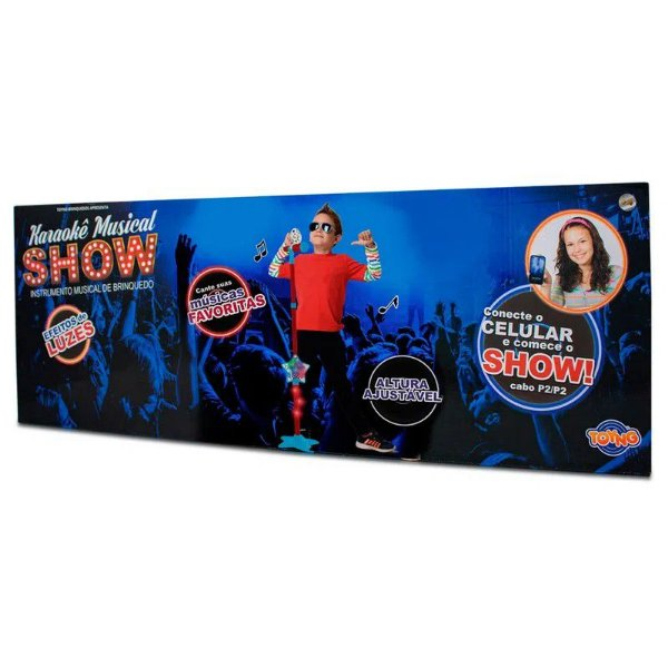 Microfone com Suporte - Karaokê Show - Toyng