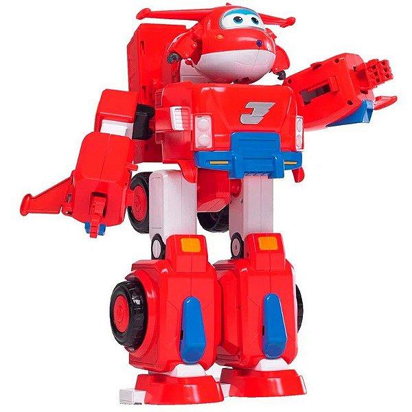 Super Wings Transformável - Super Robô Jett - Fun