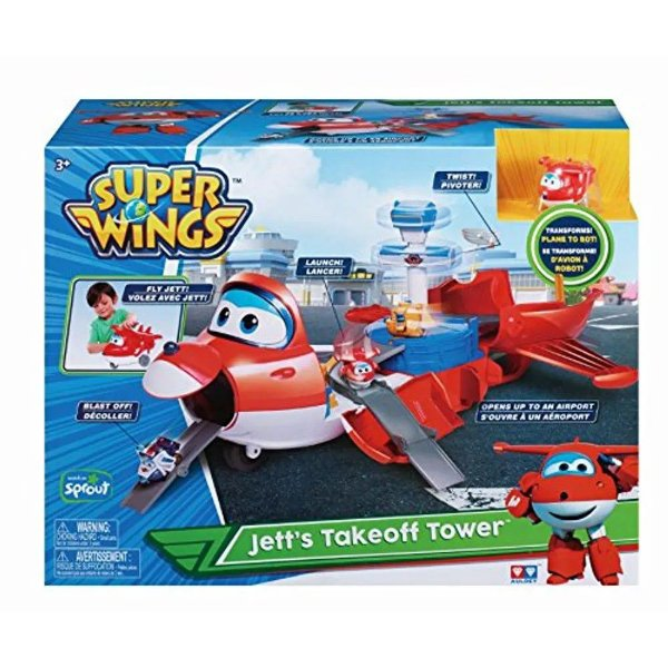 Super Wings Playset Torre de Decolagem do Jett 2 em 1 - Fun
