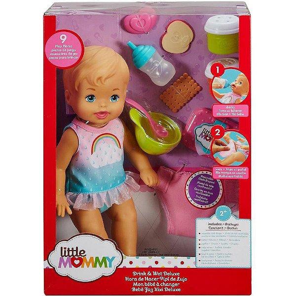 Boneca Little Mommy Bebe Faz Xixi Deluxe 31 cm