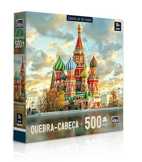 Quebra Cabeça Catedral de São Basílio Russia 500 peças - Game Office
