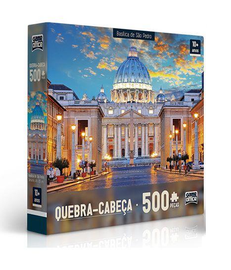 Quebra Cabeça Basílica De S. Pedro 500 peças - Game Office