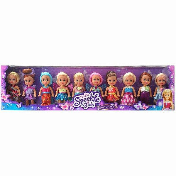 Conjunto de Mini Bonecas - 10 Cm - Sparkle Girlz - DTC