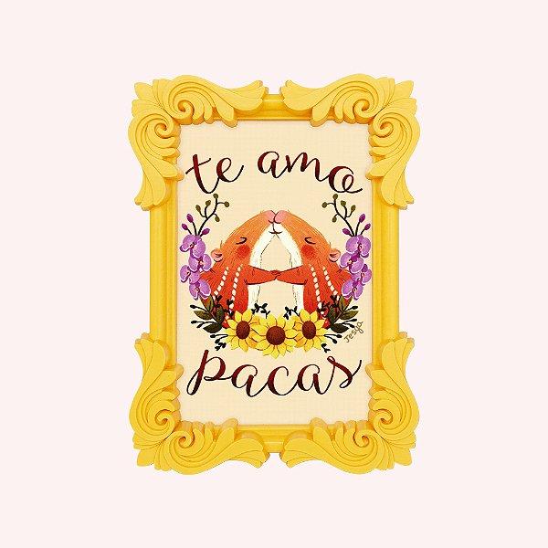 Arte Te Amo Pacas em Porta-retrato A6