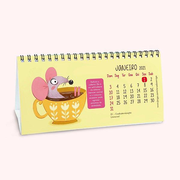 Calendário Beneficente Ano do Amigo 2021