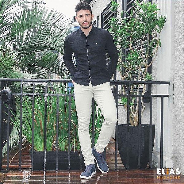 Camisa Preta 100% algodão