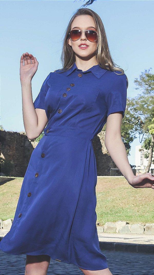Vestido Evangélico Márcia Azul