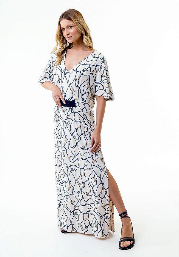 Vestido Marjorie Cordas