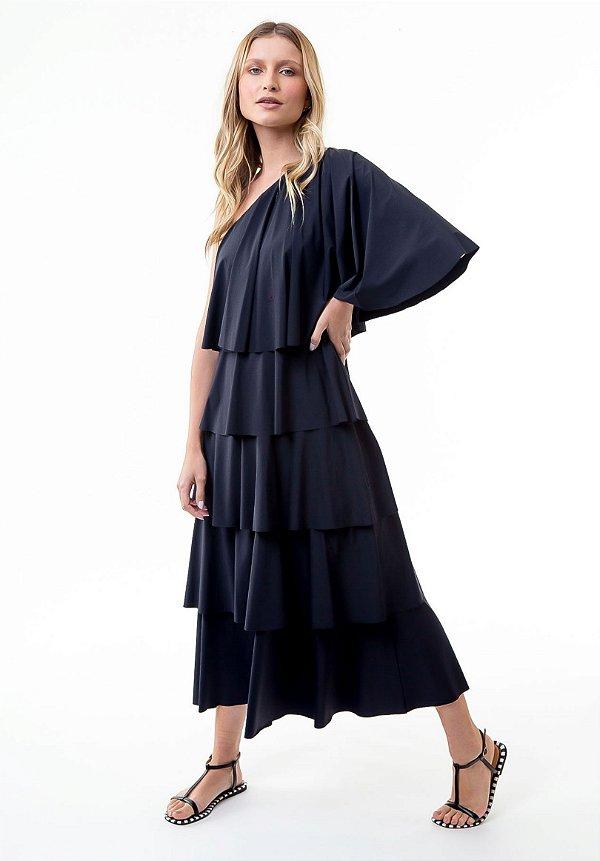 Vestido Midi Isa Preto