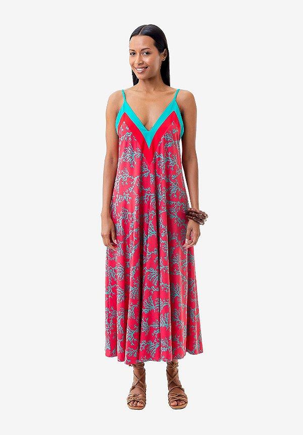 Vestido Midi Mel Coral
