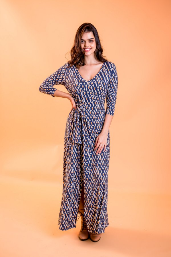 Vestido longo Alana Étnico