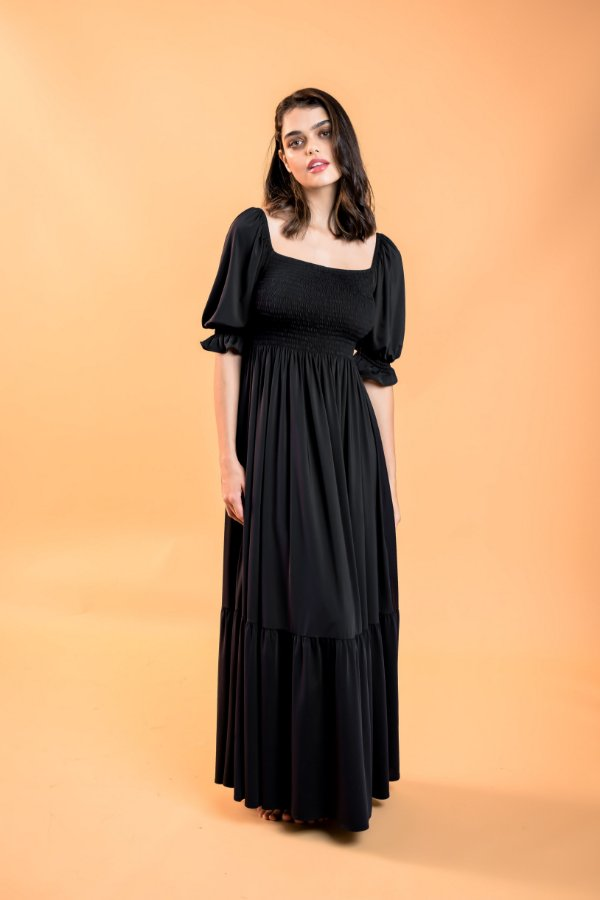 Vestido Longo Dandara Preto
