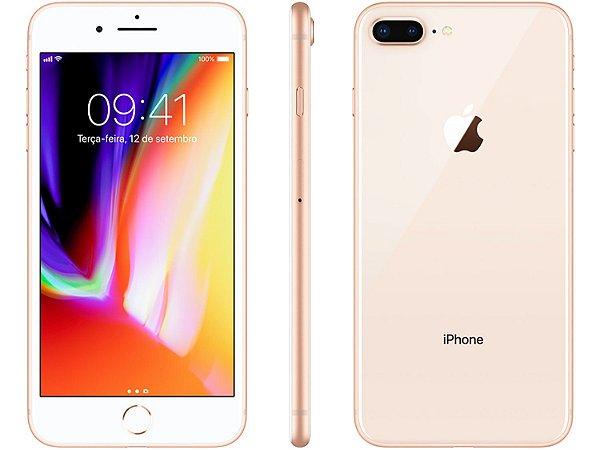 iPhone 8 Plus Dourado 128GB Novo, Desbloqueado com 1 Ano de Garantia - CL4AN3JRZ