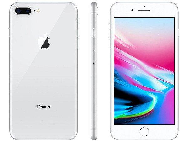 iPhone 8 Plus Prateado 128GB Novo, Desbloqueado com 1 Ano de Garantia - MB3DVTZSG