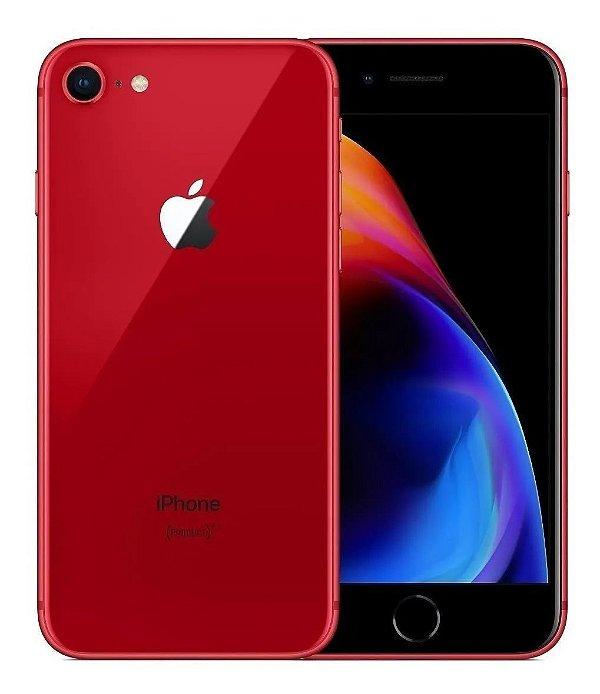 iPhone 8 Red 128GB Novo, Desbloqueado com 1 Ano de Garantia - X3KGD47LU