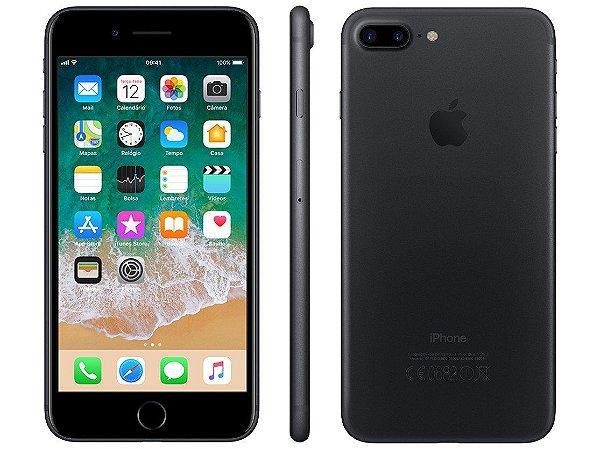 iPhone 7 Plus Preto Fosco 32GB Novo, Desbloqueado com 1 Ano de Garantia - TWPAWUACH