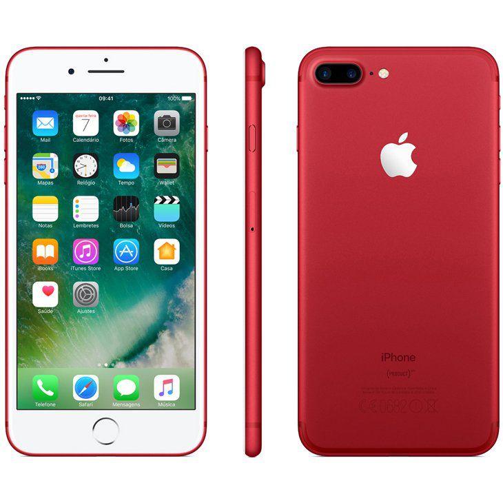 iPhone 7 Plus Vermelho 128GB Novo, Desbloqueado com 1 Ano de Garantia - L7ZTCLGXR