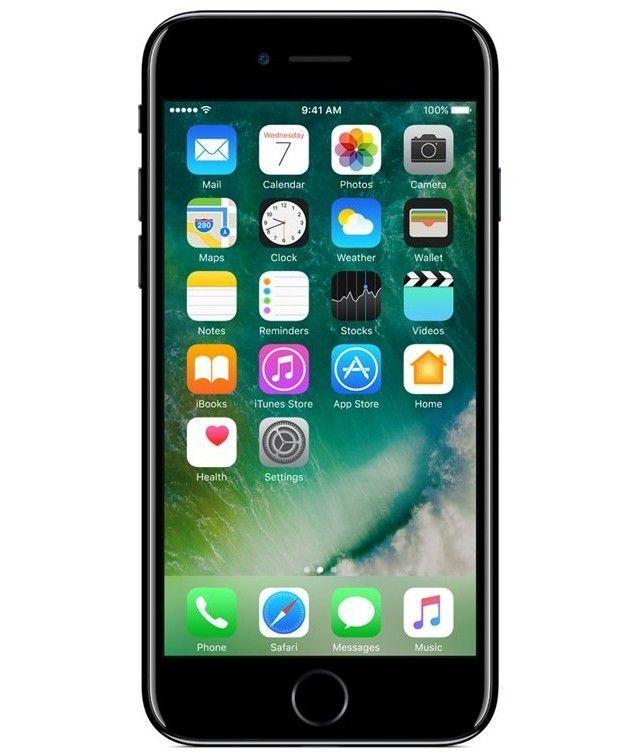 iPhone 7 Jet Black 128GB Novo, Desbloqueado com 1 Ano de Garantia - XGQLJLN64