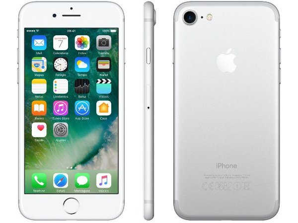 iPhone 7 Prata 256GB Novo, Desbloqueado com 1 Ano de Garantia - 4YFW7L9Z4