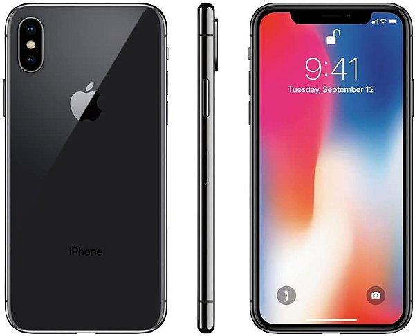 iPhone X Cinza Espacial 64GB Novo, Desbloqueado com 1 Ano de Garantia - MDC6C4DM9