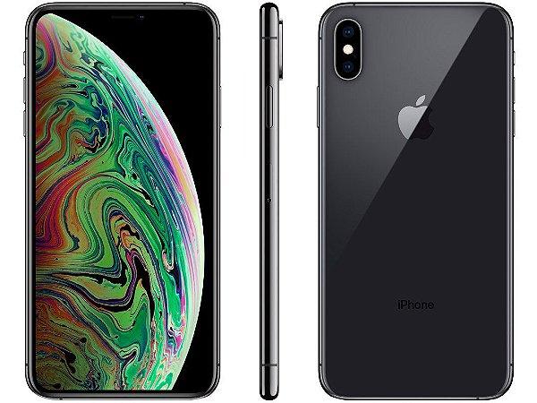 iPhone XS MAX Cinza Espacial 256GB Novo, Desbloqueado com 1 Ano de Garantia - MJHPAG52P