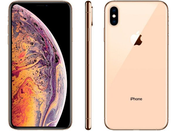 iPhone XS MAX Dourado 64GB Novo, Desbloqueado com 1 Ano de Garantia - UCS6X33TE