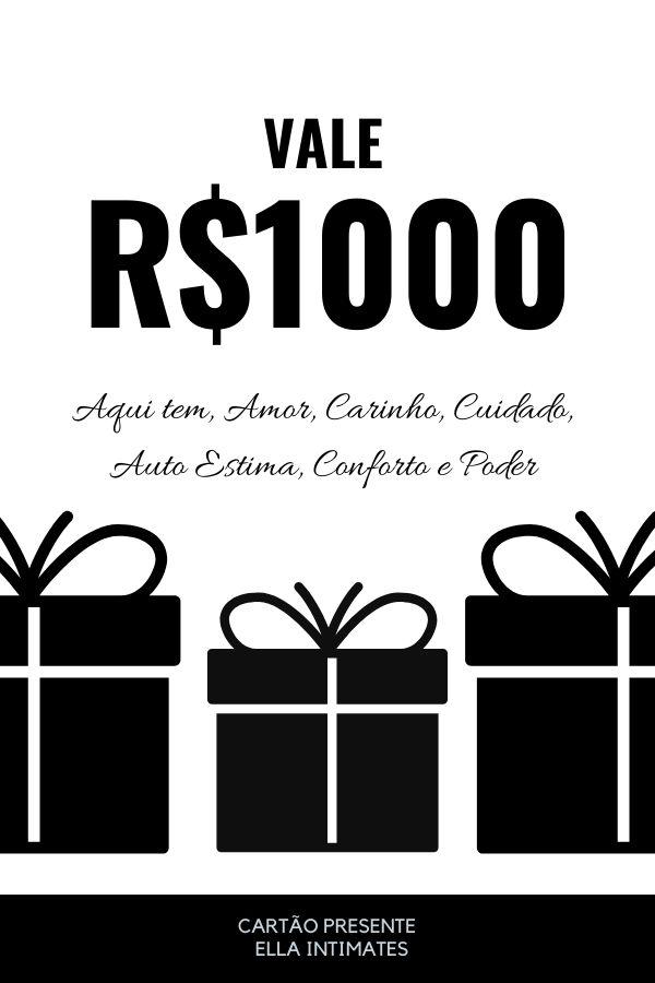 Cartão Presente R$1000,00