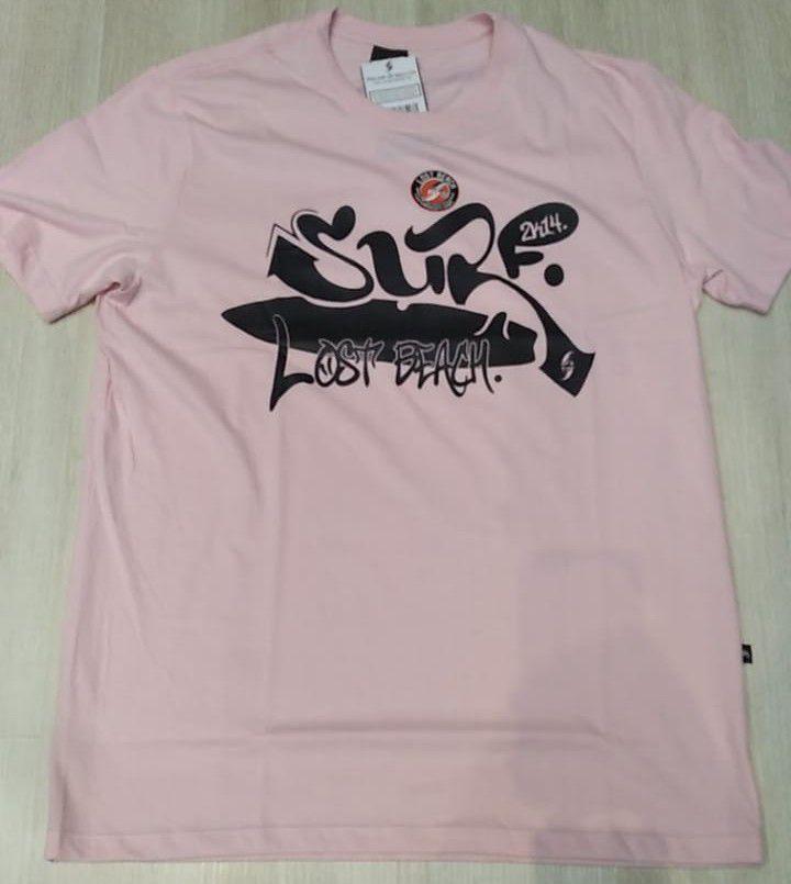 camisa lost beach pink surf