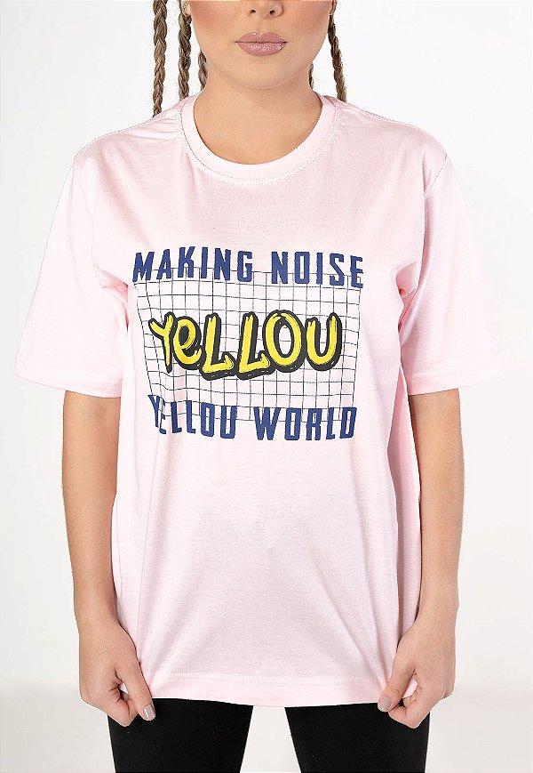 Camiseta Yellou Making Noise Rosa