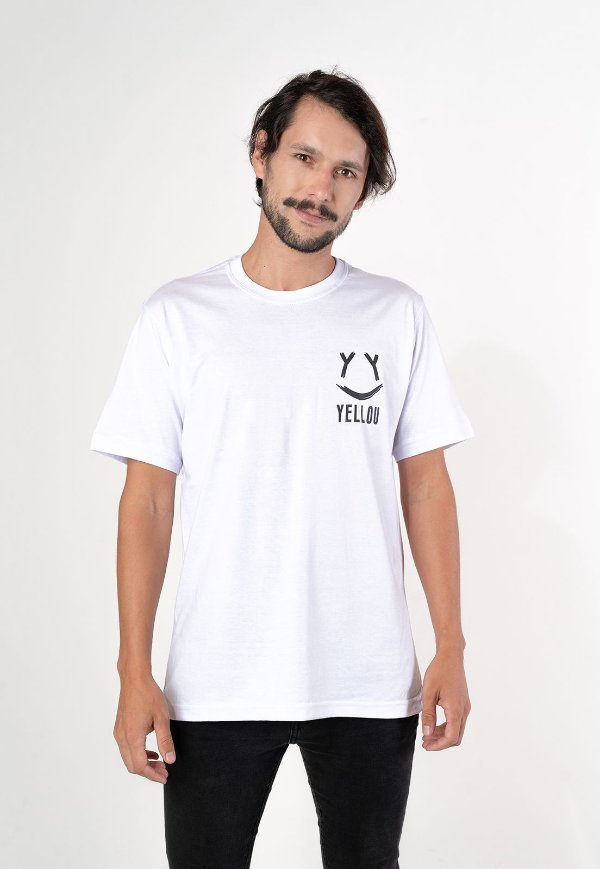Camiseta Smile Yellou Branca