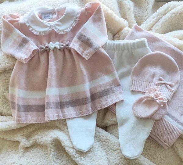 Saída Maternidade Tricot Feminina cód.9823S
