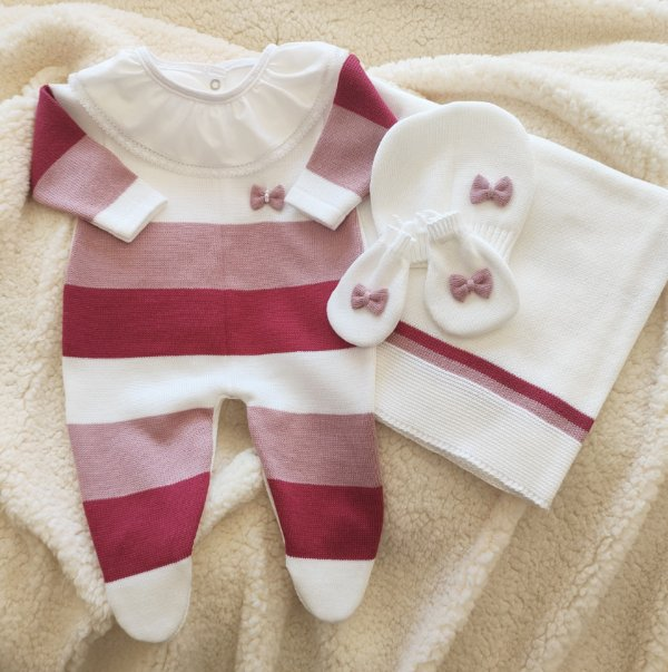 Saída Maternidade Tricot Feminina cód.9824S