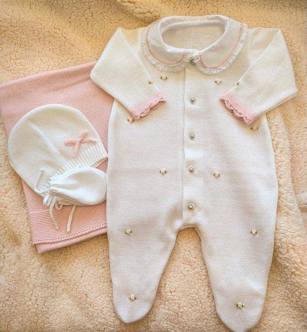 Saída Maternidade Tricot Feminina cód.8912S
