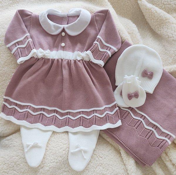 Saída Maternidade Tricot Feminina cód.9837S