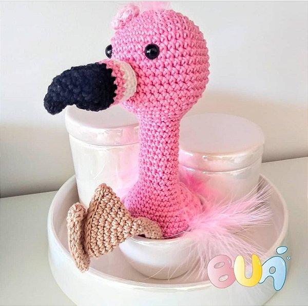 Boneco Amigurumi - Flamingo