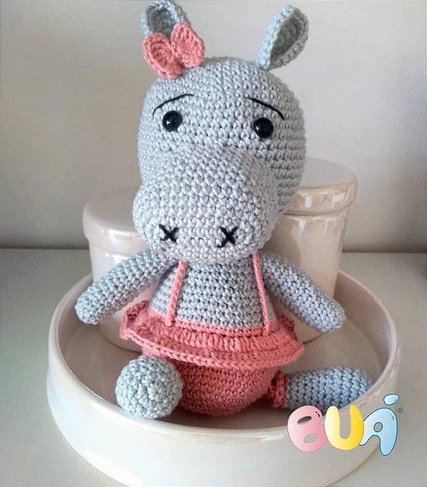 Boneco Amigurumi - Hipopótamo