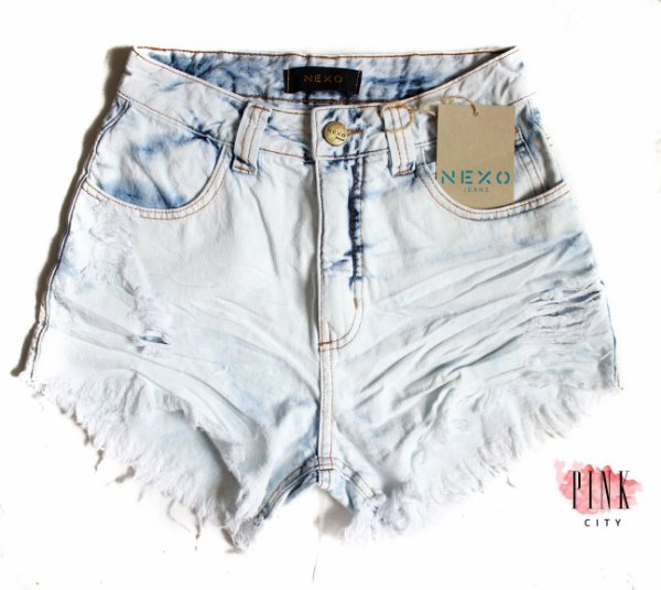 cafa1c9ce Shorts Cintura Alta Hot Pants Jeans - Nexo Jeans - Pink City