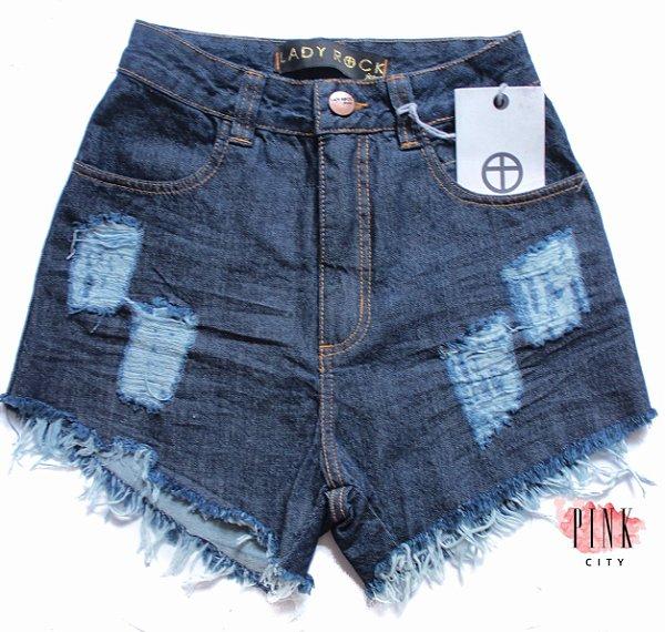 b224b3662 Shorts Cintura Alta Hot Pants Jeans - Lady Rock - Pink City