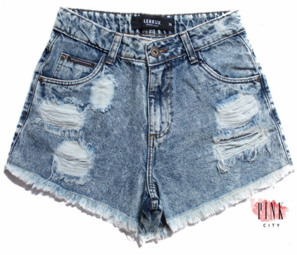 ab02a2b6a Shorts Cintura Alta Hot Pants Jeans - Lerrux - Pink City