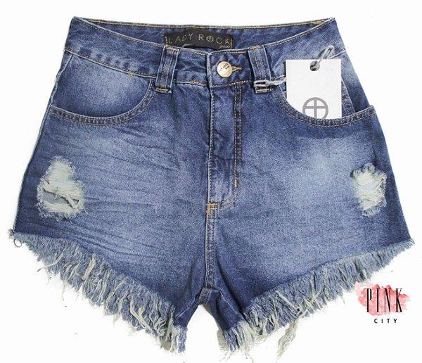 cdffdbfa0 Shorts Cintura Alta Hot Pants Jeans - Lady Rock