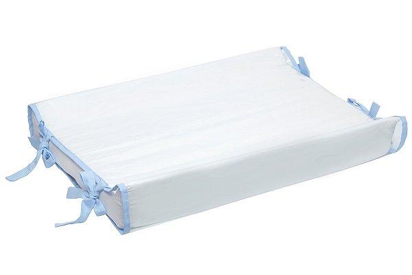 Trocador de Cômoda Americano Branco / Azul Claro