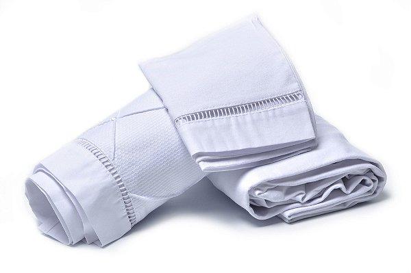 Jogo de Lençol Mini Berço 3 Peças Malha 100% Algodão Branco