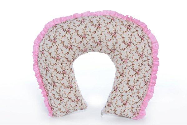 Almofada de Amamentação Floral / Rosa